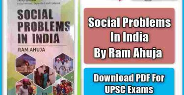 Social Problem In India Book by Ram Ahuja pdf Download