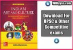Indian Art and Culture by Nitin Singhania pdf Download