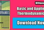 Basic and Applied Thermodynamics By PK Nag Pdf Download