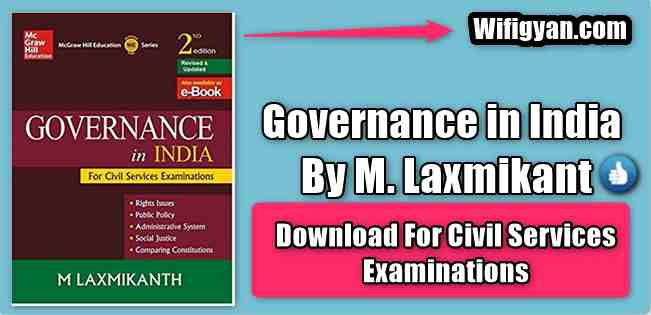 Governance In India by M. Laxmikant Pdf Download for UPSC
