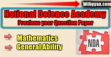 NDA Previous Year Question Papers Free PDF Download
