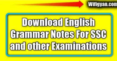 English Grammar Hand Written Notes Free Pdf Download