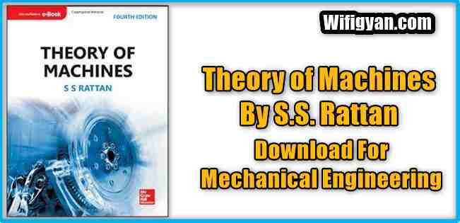 S.S. Rattan TOM (Theory of Machines) Book Pdf Free Download