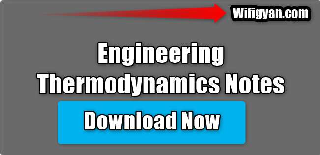 Engineering Thermodynamics Lecture Notes Free Pdf Download