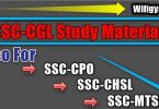 SSC CGL Study Materials Free Download in PDF