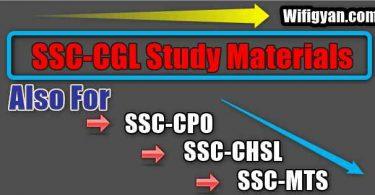 SSC CGL Study Materials Free Download in PDF