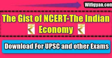 The Gist of NCERT-The Indian Economy Free PDF Download
