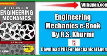 RS Khurmi Engineering Mechanics eBook PDF Download