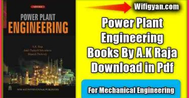 Power Plant Engineering Books By A.K Raja Download in Pdf