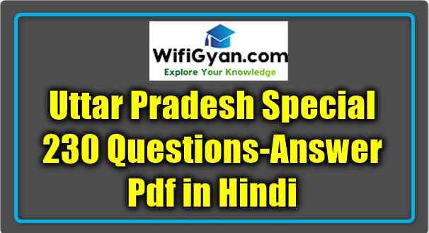 Uttar Pradesh Special Questions Answer Pdf Uttar Pradesh Special Questions Answer Pdf