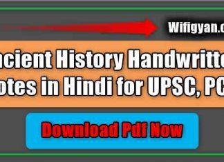 Ancient History Handwritten Notes in Hindi