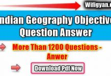 Indian Geography Objective Question Answer Pdf