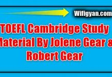 TOEFL Cambridge Study Material By Jolene Gear