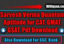 Sarvesh Verma Quantum Aptitude for CAT