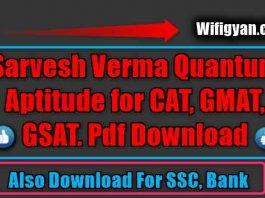 Sarvesh Verma Quantum Aptitude for CAT