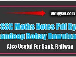 SSC Maths Notes Pdf By Sandeep Bohay