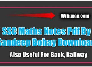 SSC Maths Notes Pdf By Sandeep Bohay
