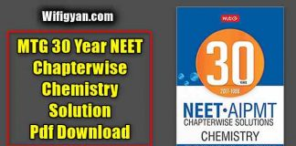 MTG 30 Year NEET Chapterwise Chemistry Solution