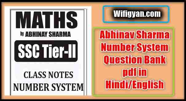 Abhinav Sharma Number System Question Bank pdf
