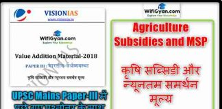 Agriculture Subsidies and MSP Notes