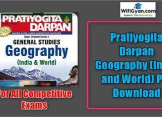 Pratiyogita Darpan Geography (India and World) Pdf