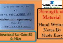 Strength of Material Hand Written Notes By Made Easy