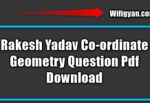 Rakesh Yadav Co-ordinate Geometry Question Pdf Download