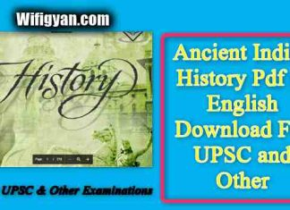 Ancient Indian History Pdf in English