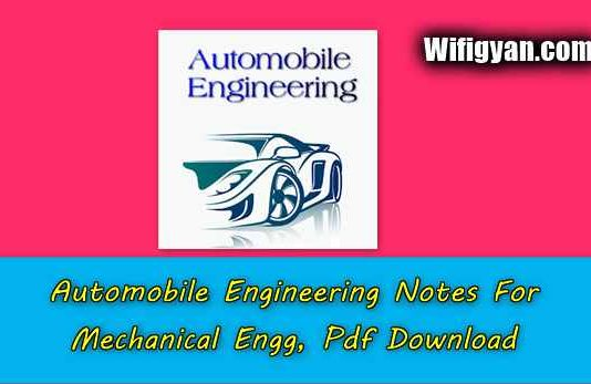 Automobile Engineering Notes For Mechanical Engg, Pdf Download