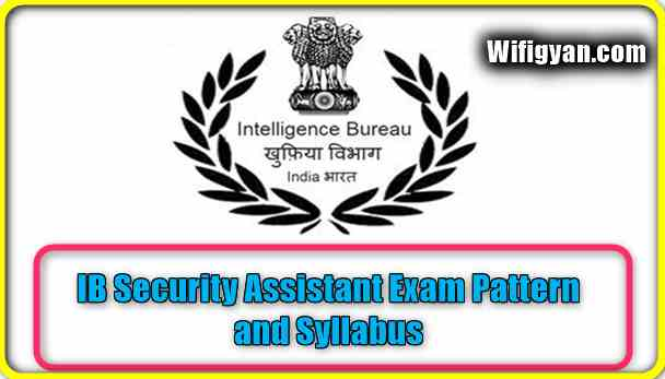IB Security Assistant Exam Pattern and Syllabus