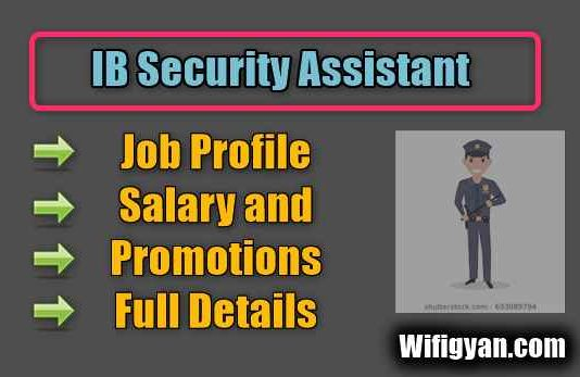IB Security Assistant Job Profile, Salary and Promotions