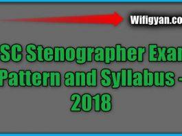 SSC Stenographer Exam Pattern and Syllabus -2018