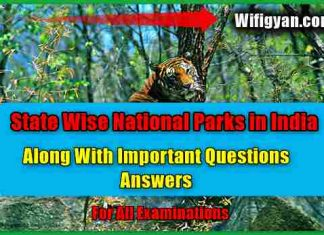 State Wise National Parks in India, For All Competitive Exams