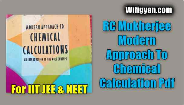 RC Mukherjee Modern Approach To Chemical Calculation Pdf Download