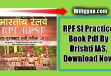 RPF SI Practice Book Pdf By Drishti IAS, Download Now