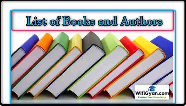 Books and Authors List Current Affair 2018 for All Exams