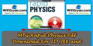 MTG Rapid Physics Pdf Download For IIT JEE and NEET NEET Exams