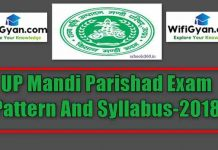 UP Mandi Parishad Exam Pattern And Syllabus-2018