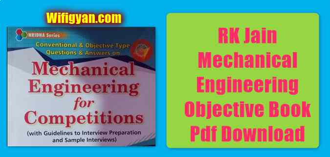 RK Jain Mechanical Engineering Objective Book Pdf Download