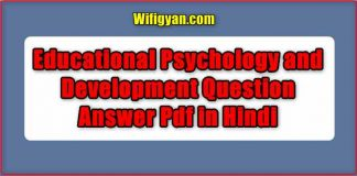psychology objective questions and answers pdf Archives - Wifi Gyan