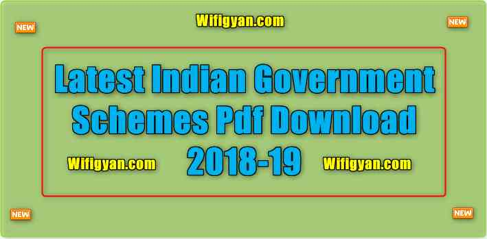 Latest Indian Government Schemes Pdf Download 2018-19