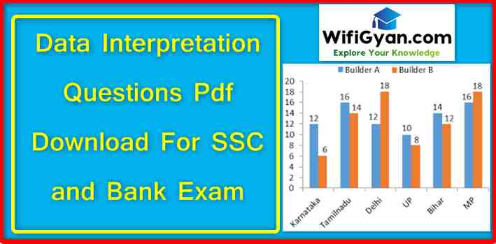 Data Interpretation Questions Pdf Download For SSC and Bank Exam
