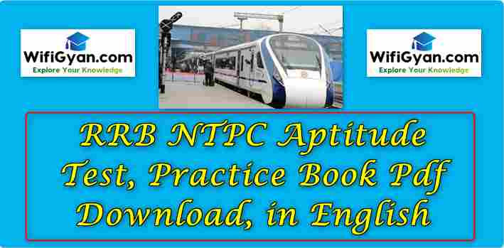 RRB NTPC Aptitude Test, Practice Book Pdf Download, in English