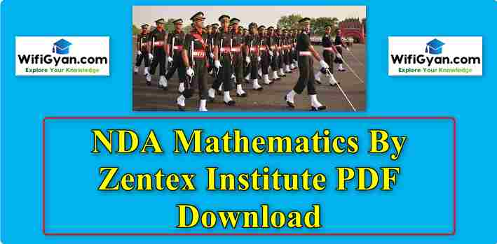 NDA Mathematics By Zentex Institute PDF Download