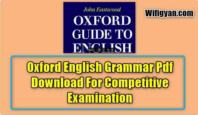 Oxford English Grammar Pdf Download For Competitive Examination