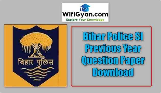 Bihar Police SI Previous Year Question Paper Download