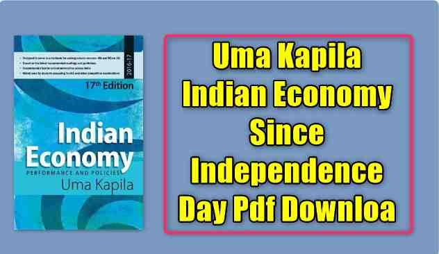 Uma Kapila Indian Economy Since Independence Day Pdf Download