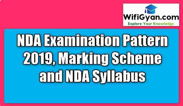NDA Examination Pattern 2019, Marking Scheme and NDA Syllabus