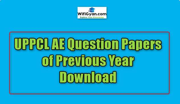 UPPCL AE Question Papers of Previous Year Download