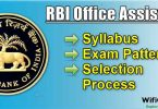 RBI Office Assistant Syllabus, Exam Pattern and Selection Process